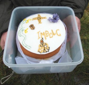 Our lovely Imbolc cake made by a member!